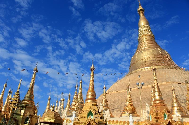 Chùa vàng Shwedagon nổi tiếng
