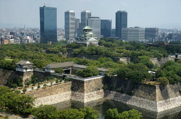 Lâu đài Osaka tại thành phố Osaka Nhật Bản
